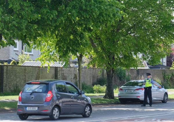 Photo of Garda at a checkpoint