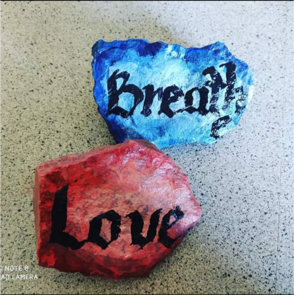 Photo of painted rocks