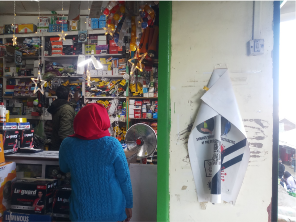 Photo of inside a shop in India